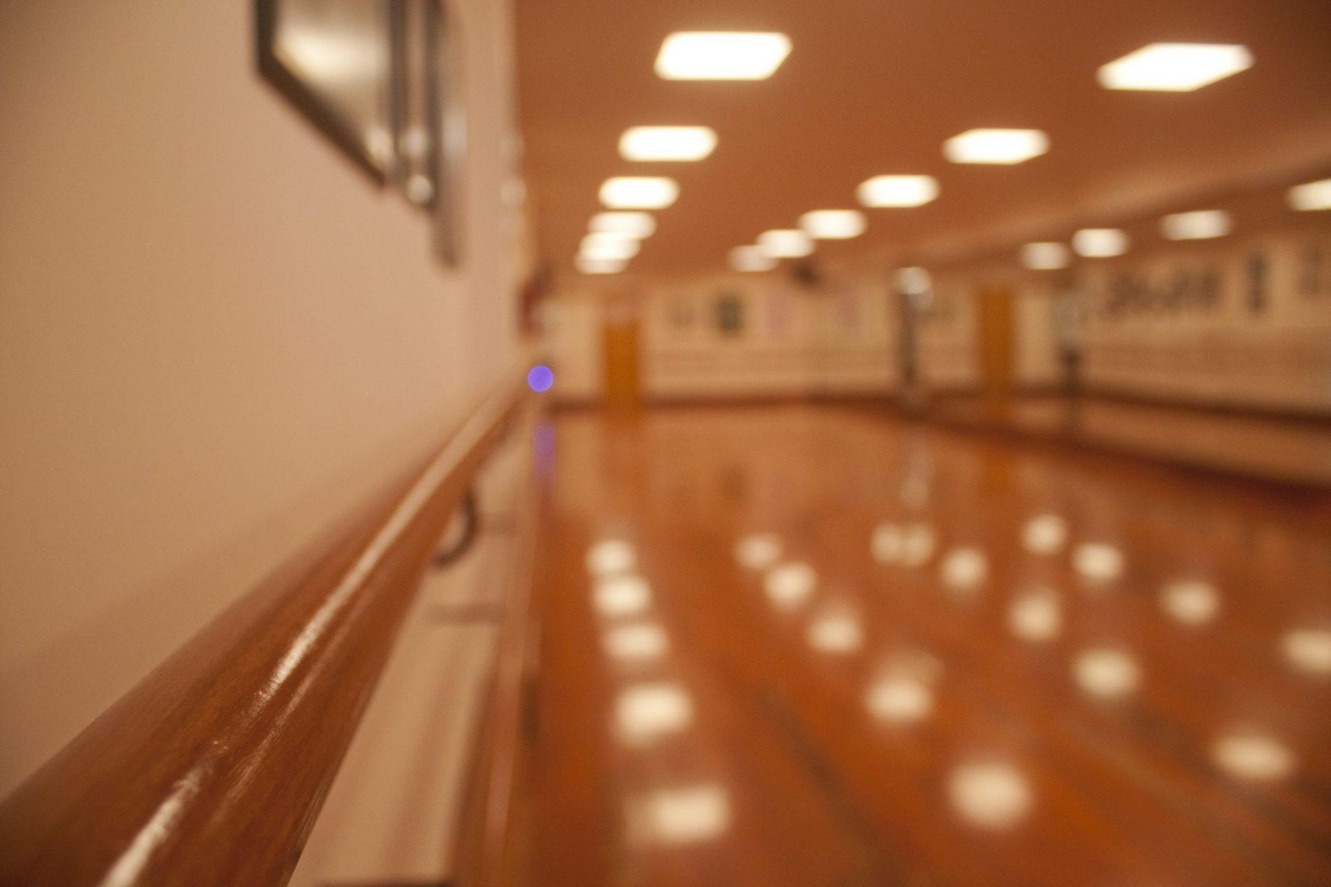 Foto de las barras de la sala del Centro de Danza Sandra Santa Cruz donde el alumnado de Predanza I aprende