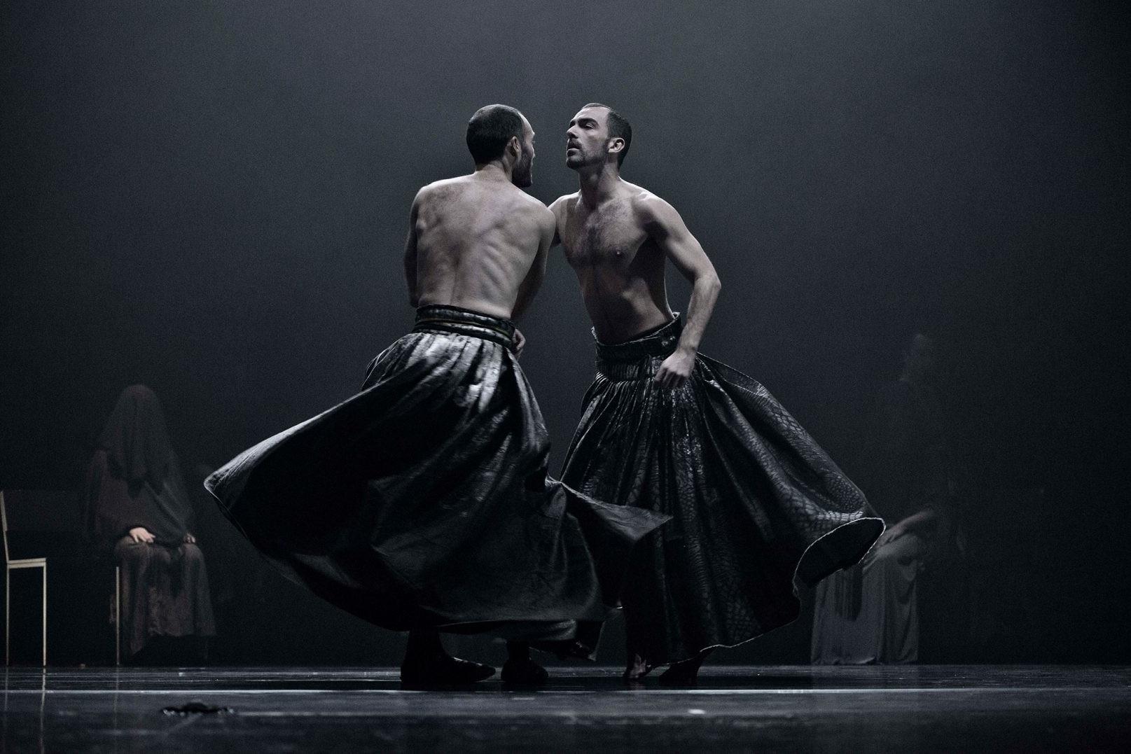 Foto de dos bailarines de