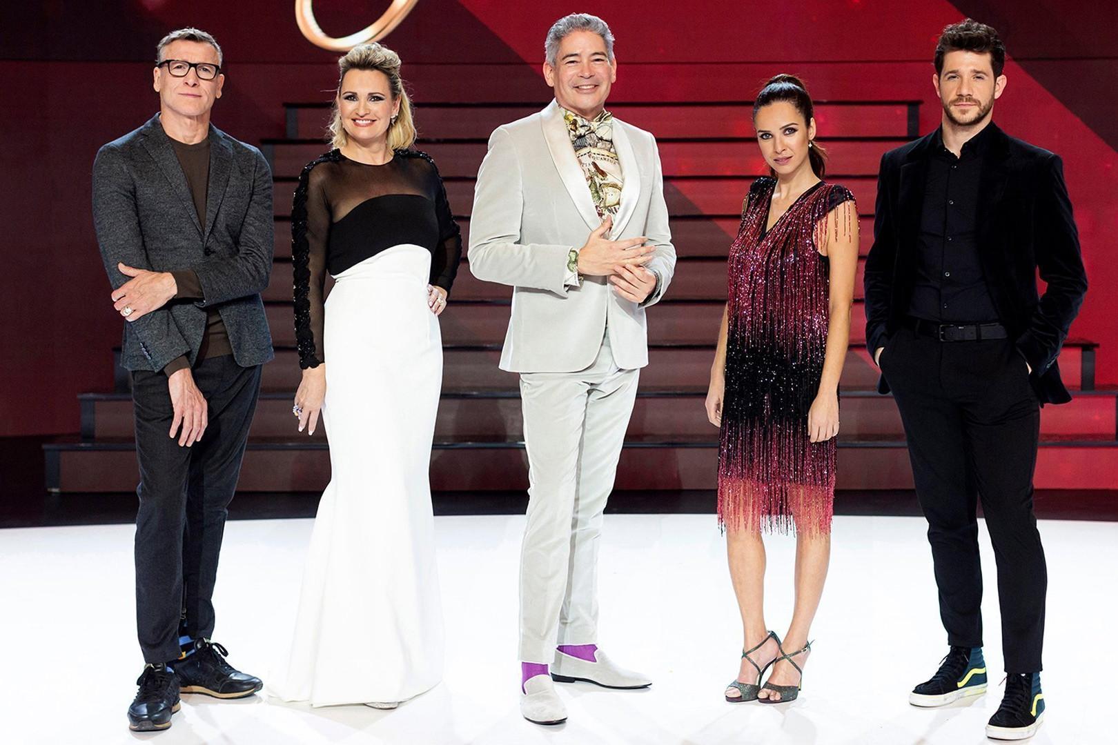 Foto del jurado de Prodigios y los presentadores