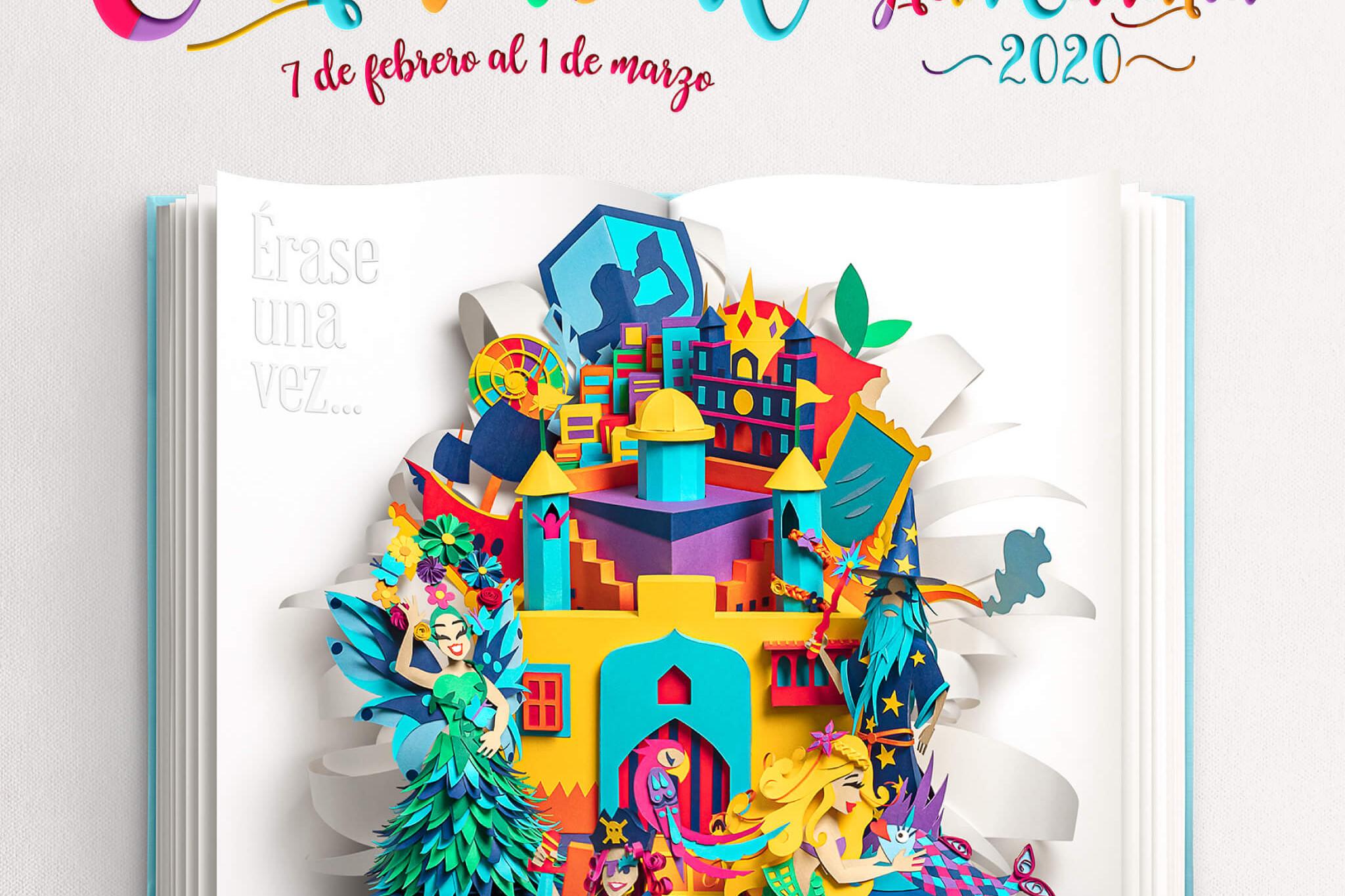 Si los peces hablaran... estará en el Carnaval de Las Palmas 2020 para presentar su cuento. Por el momento publica el cartel del carnaval, que es un libro abriéndose con ERASE UNA VEZ y de él emergen diferentes personajes: merlín, una sirena, un pirata y una rumbera.