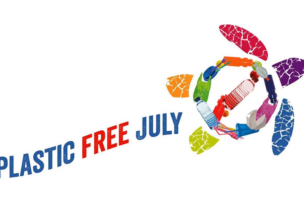 Logo del Plastic Free July