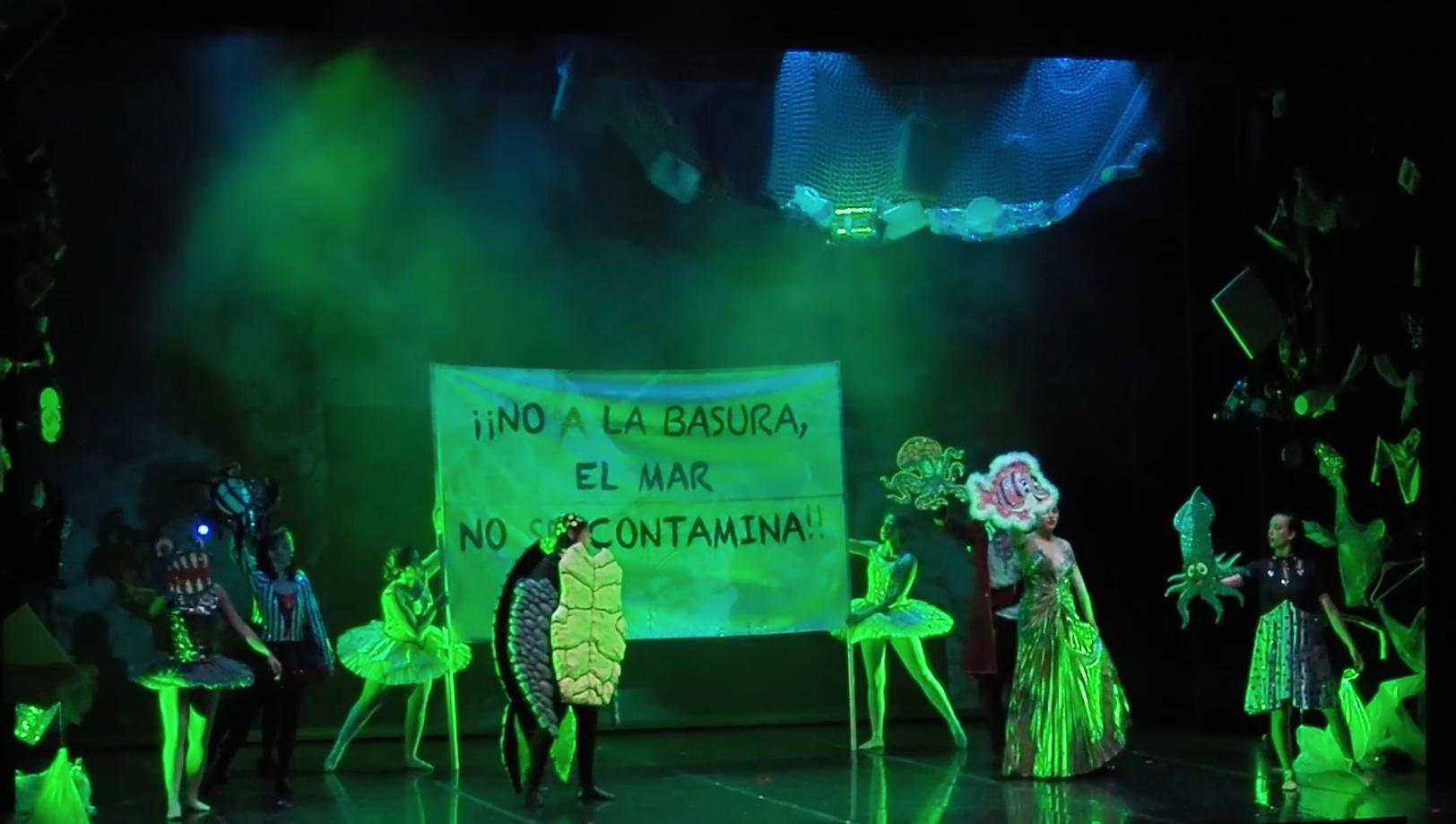 Foto de la pancarta del Musical